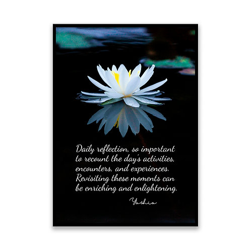 Daily reflection... - 5x7 Framed Art - Original Quote by Yoshio