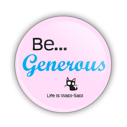 Be Generous Button