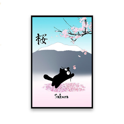 Sakura Cat Magnet