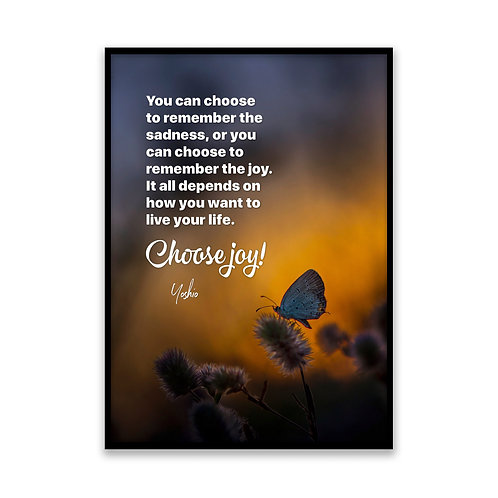 You can choose to remember - 5x7 Framed Art - Original Quote by Yoshio