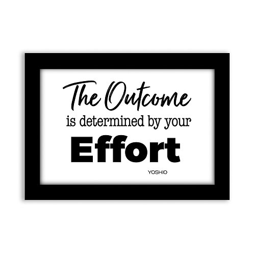 The outcome is determined...  - 5x7 Wall Deco - Original Quote b