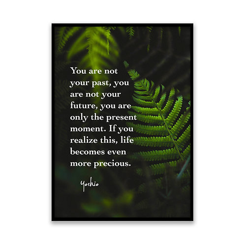 You are not your past... - 5x7 Framed Art - Original Quote by Yoshio