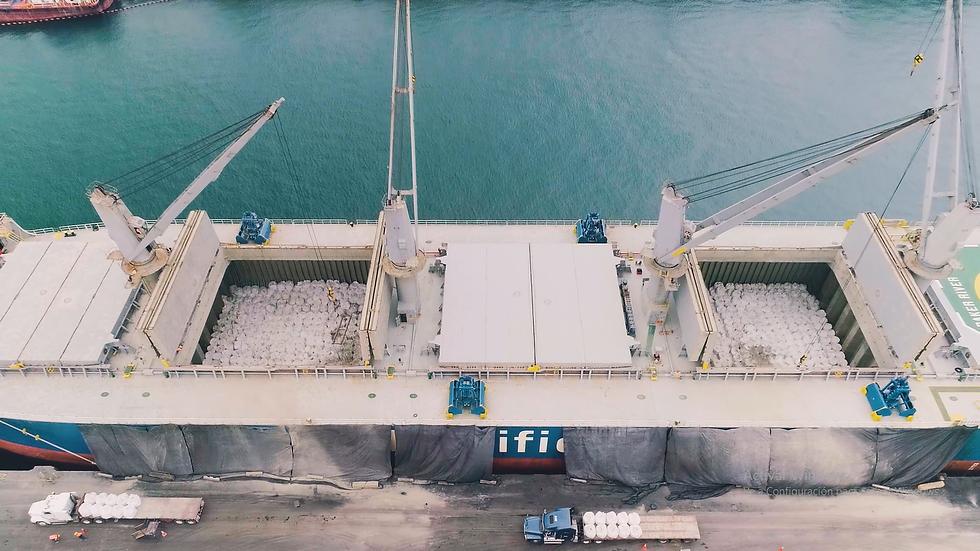 Operación Marítima Descarga de Material a Granel