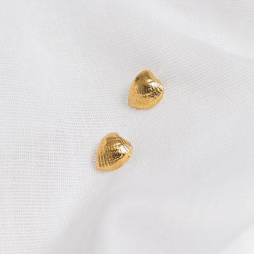 Gold Tiny Cockleshell Studs