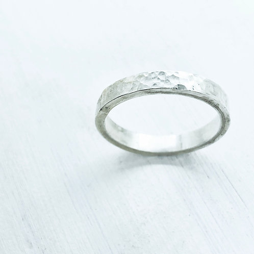 Textured Flat Stacking Ring