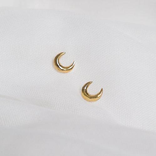 Gold Luna Studs