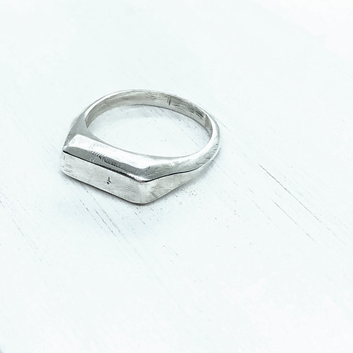Thin Rectangular Signet Ring