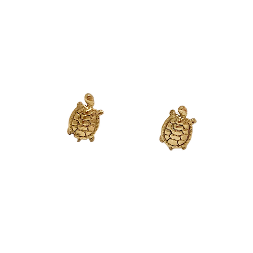 Baby Turtle Studs Gold
