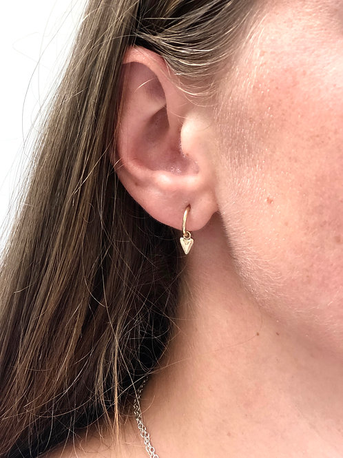 Dinky Heart Gold Huggy Hoops