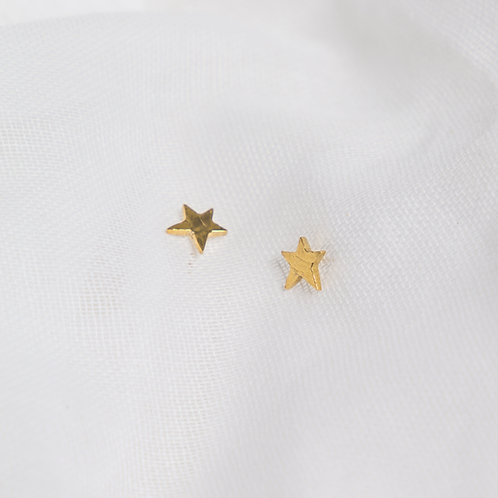 Gold Mini Star Studs