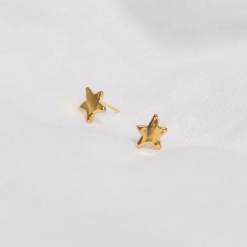 Gold Little Star Studs