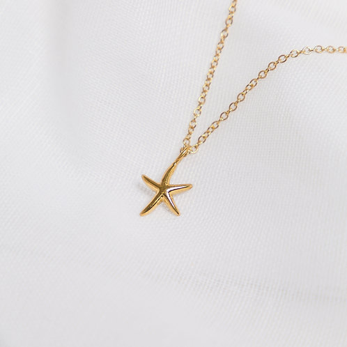 Gold Small Starfish Necklace