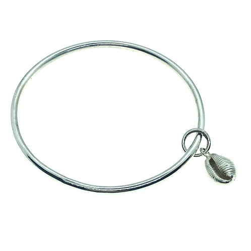 Cowrie Shell Charm Bangle