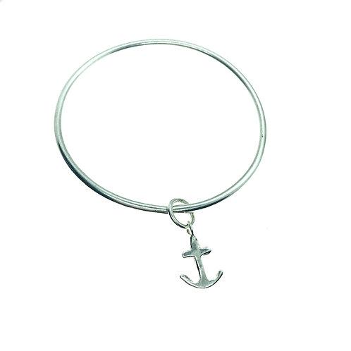 Anchor Charm Bangle