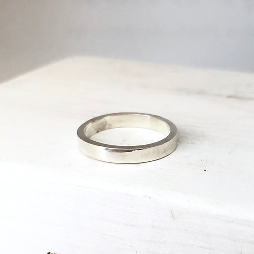 Silver Rectangular Band