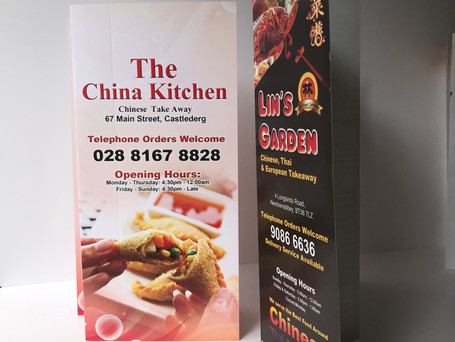 A3 & A4 Chinese Takeaway Menu Printing