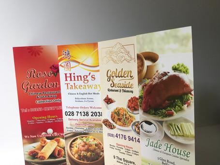 Chinese Restaurant and Takeaway Menu Printing