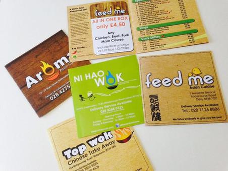 Square Booklet Printing for Takeaway and Restaurant Menu Design Menu Printing
