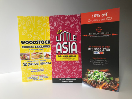 Cheap A4 Menu Leaflets Printing