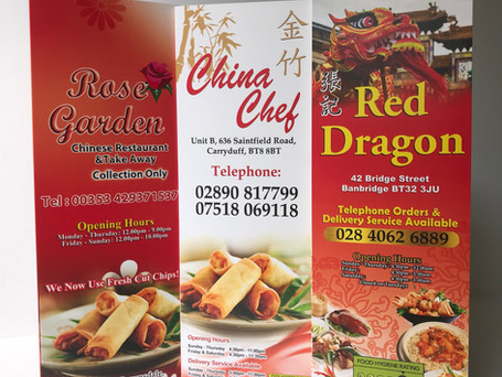 Cheap Restaurant and Takeaway Menu Printing