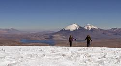 climbing Guallatiri north chile
