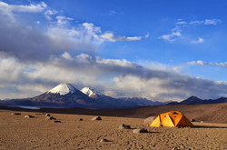 Guallatiri base camp