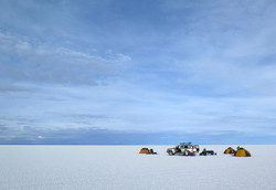 camping on the salar