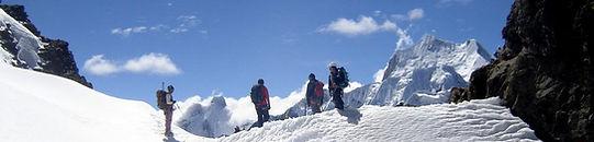 mountain climbing in Peru should be done in the Cordillera Blanca