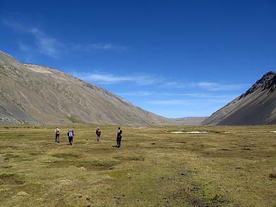 Trekking in the Cordillera real, Bolivia