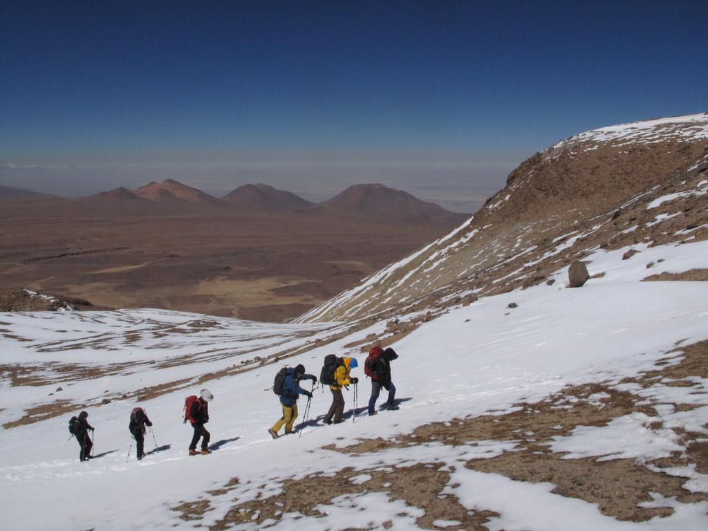 Climbing cerro Toco