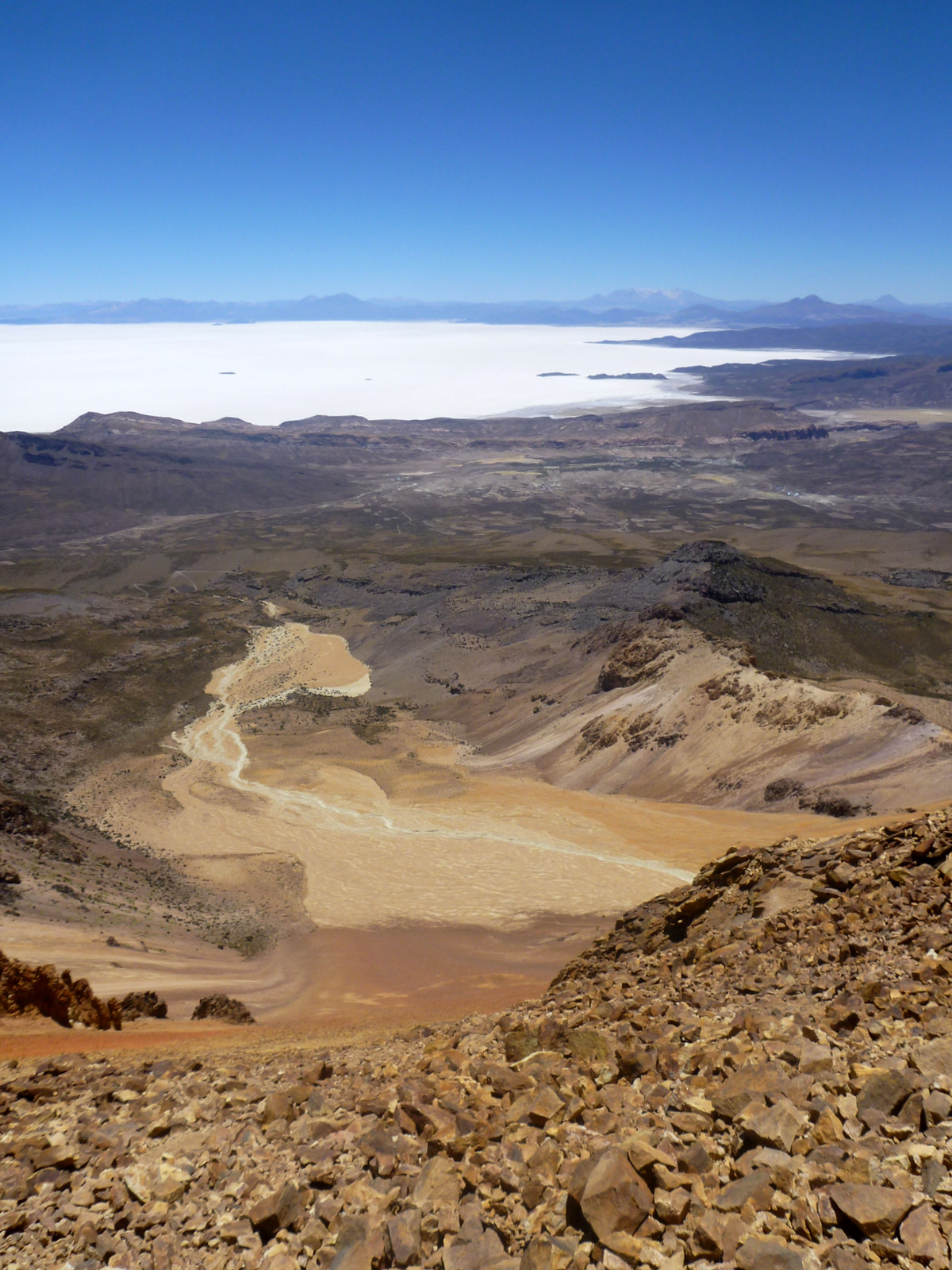 view on the salar from above