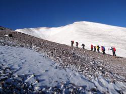 group of climbers on Barrancas blanc