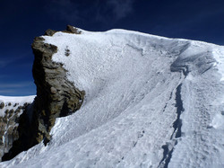 The summit at 6330m