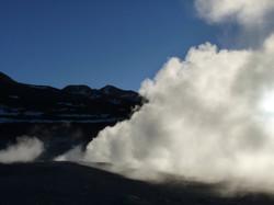 champ de geyser - Sol de mañana