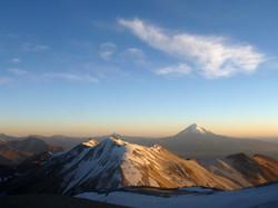 Sajama volcano just after sunrise
