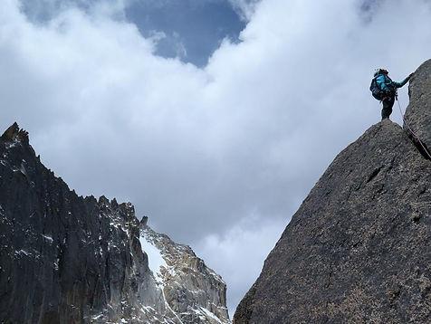 Ridge climbing - Quimsa Cruz