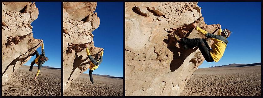 Bouldering and rock climbing valle de las rocas in bolivia