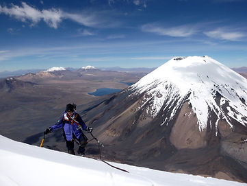 Parinacot is the second highest volcano in the Sajama national Park