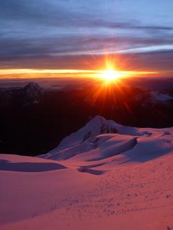 Beautiful sunrise over the Yungas
