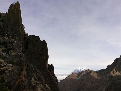 views on Illimani from Quimsa Cruz