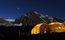 Cozy camp at Plaza de Mulas