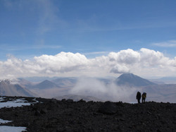 last stretch to reach the summit