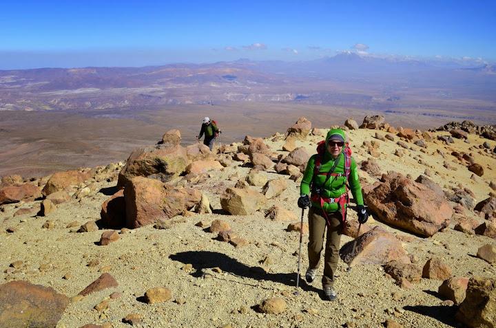 climbing Tarapaca 5907m