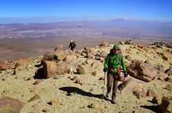 Reaching the summit of Tarapaca