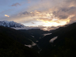 rare sight Illimani from behind