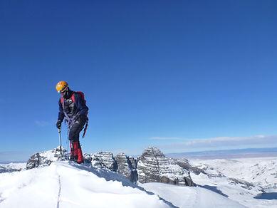 climbing Pequeño Alpamayo mountain in Bolivia
