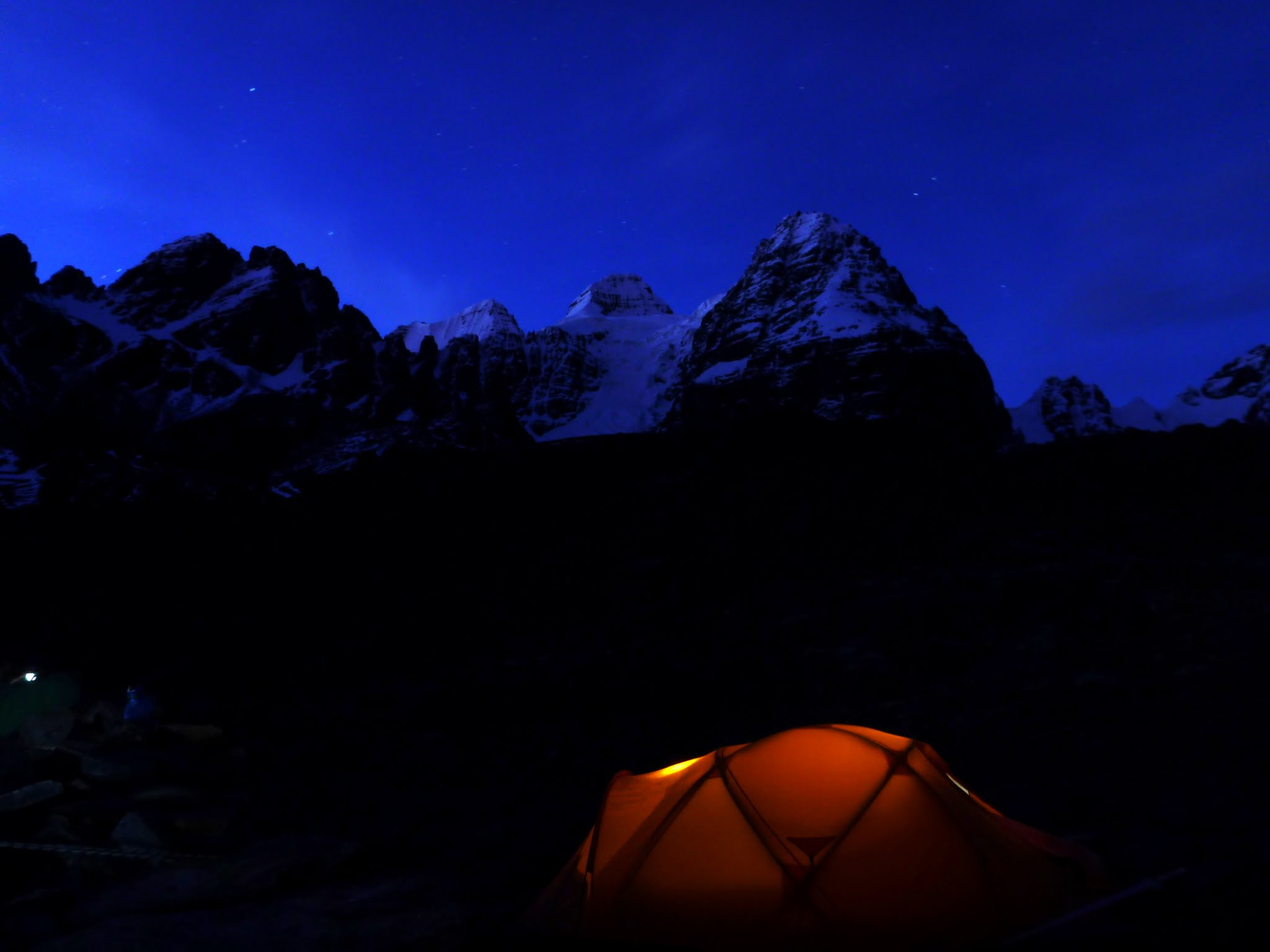 Base camp by night