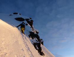 climbing the condor head