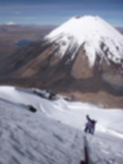 climbing Pomerape volcano