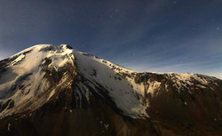 view on Pomerape 6280m before sunset